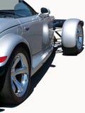 小轿车银色体育运动 库存图片
