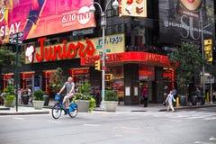 小辈餐馆和时代广场NYC 库存图片