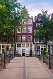 小运河桥梁在阿姆斯特丹 免版税图库摄影