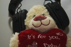 小逗人喜爱的爱恋的美丽的惊人的玩具熊 库存图片