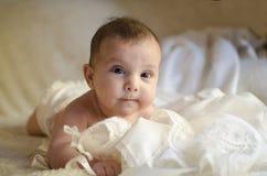 小逗人喜爱的婴孩 免版税库存照片