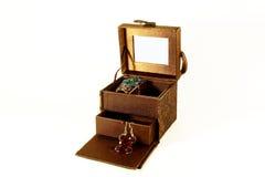 小配件箱的珠宝 库存图片