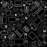 小配件和设备样式 免版税库存照片