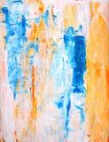 小野鸭和橙色抽象派绘画 免版税库存图片