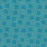 小野鸭和黄色方形的抽象几何设计瓦片样式关于 免版税图库摄影