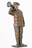 小锡兵-有喇叭的一个少校 免版税库存图片