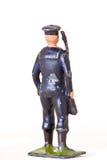 小锡兵-玩具水手Backview有步枪的 库存图片