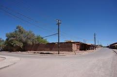 小镇在智利的阿塔卡马地区 免版税库存图片