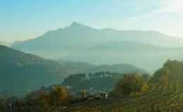 小镇在特伦托自治省地区,北意大利 免版税库存图片