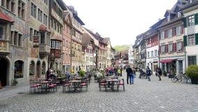 小镇在Steinamrhein 库存照片