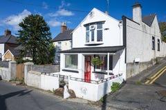 小镇房子在爱尔兰 库存照片