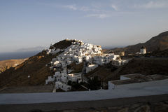 小镇的看法有山的 图库摄影