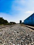 小镇被放弃的铁轨 图库摄影