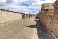 小镇,圣克里斯托瓦尔,爱德华多Alveroa, Uyuni玻利维亚, 免版税库存图片