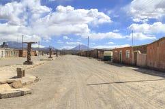 小镇,圣克里斯托瓦尔,爱德华多Alveroa, Uyuni玻利维亚, 库存图片