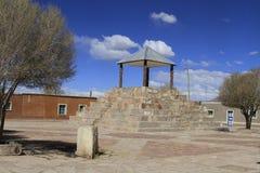 小镇,圣克里斯托瓦尔,爱德华多Alveroa, Uyuni玻利维亚, 免版税库存照片