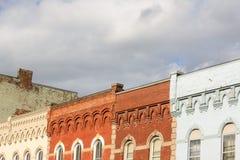 小镇, 19世纪建筑学 免版税库存照片