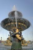小雕象喷泉水 库存图片