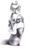 小雕象女孩日语 免版税库存图片