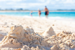 小雕象沙子雕塑 库存图片