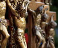 小雕象耶稣纪念品 免版税库存照片
