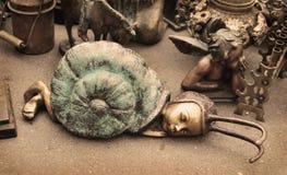 小雕象蜗牛 免版税图库摄影