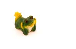 小雕象青蛙图象 免版税库存照片