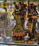 小雕象非洲人妇女 免版税库存照片