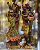 小雕象非洲人妇女 库存照片