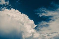 小雨和云彩 免版税库存照片