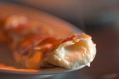 小面包干用在串烘烤的乳酪 免版税库存图片