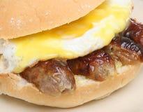 小面包蛋香肠 免版税库存图片