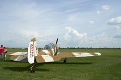 小飞机航空原始的显示 免版税库存照片
