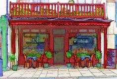 小餐馆 库存图片