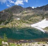小高山的湖 免版税库存照片