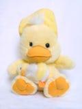 小鸡爱拥抱逗人喜爱的蓬松玩具二黄&# 库存照片