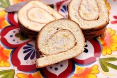 小麦面粉自创蛋糕  图库摄影