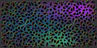 小黑三角暗色传染媒介在五颜六色的背景的 三角抽象纹理的例证  样式设计 库存图片