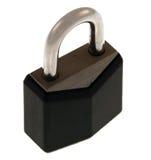小黑色的锁定 库存照片