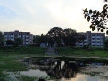 小鼓bondhu回教族长mujib大厅伊斯兰教的大学孟加拉国 免版税库存照片