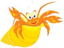 小龙虾他的海运壳 免版税库存图片