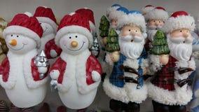 小,多彩多姿的玩具圣诞老人条目 免版税库存照片