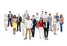 小组不同种族和不同的人民 免版税库存图片
