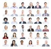 小组不同种族的不同的商人 库存照片