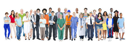 小组不同种族的不同的混杂的职业人民 免版税图库摄影
