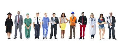 小组不同种族的不同的混杂的职业人民 免版税库存照片