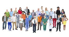 小组不同种族的不同的混杂的职业人民 免版税库存图片