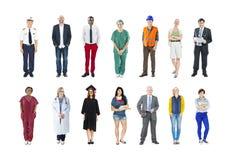 小组不同种族的不同的混杂的职业性人民 免版税库存照片