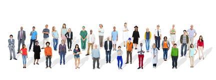 小组不同种族的各种各样的职业人民 免版税库存图片