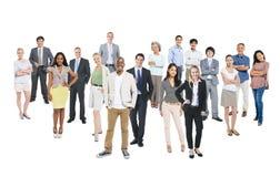 小组不同种族的快乐的商人 免版税库存图片